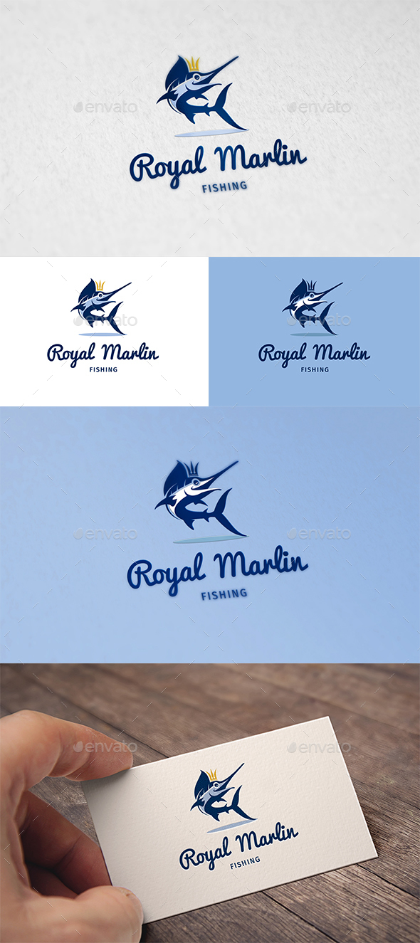 Royal Marlin Logo - Animals Logo Templates