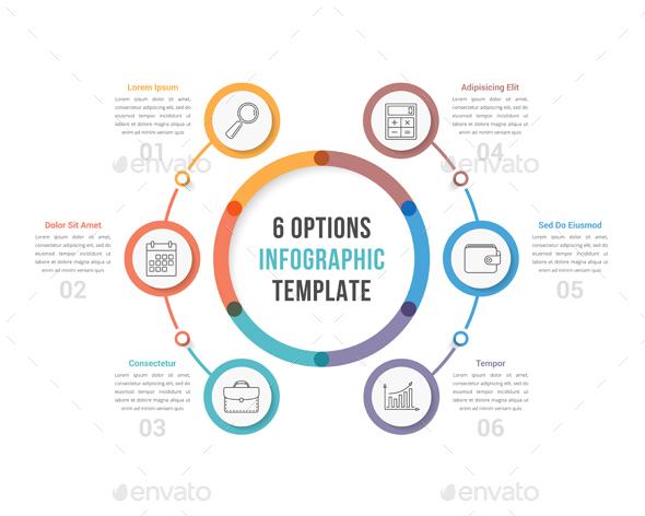Six Options Infographics - Infographics