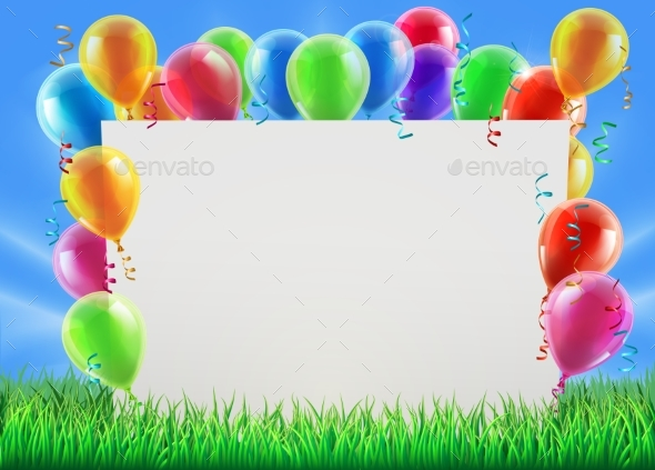 Party Balloon Sign - Landscapes Nature