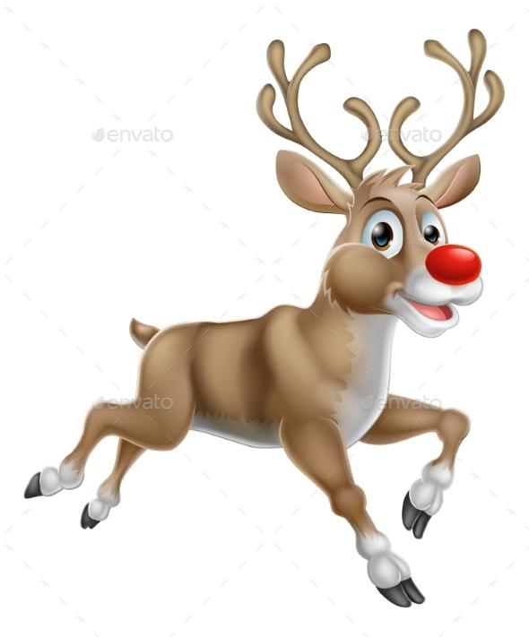 Christmas Cartoon Reindeer - Seasons/Holidays Conceptual