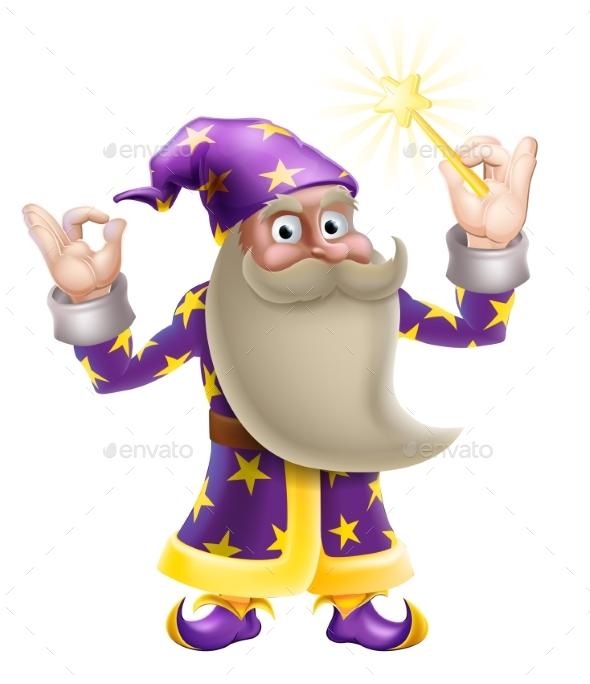 Wizard Doing Perfect Gesture - Miscellaneous Vectors