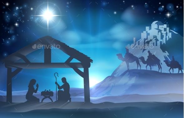 Nativity Christmas Scene - Animals Characters