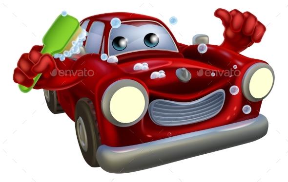 Car Valet Cartoon - People Characters