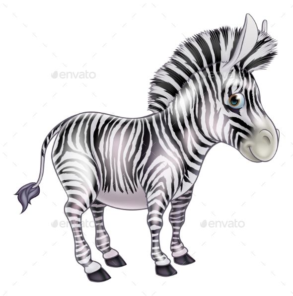 Cartoon Zebra - Animals Characters