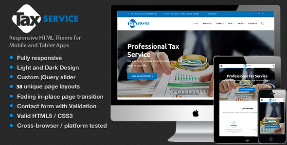 Tax Service – Finance & Accounting HTML5 TEMPLATE