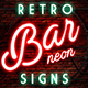 Retro Bar Neon Signs - GraphicRiver Item for Sale