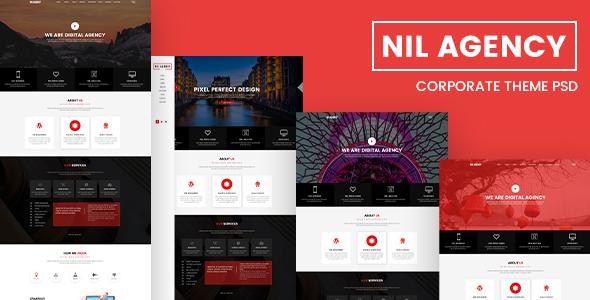 Nil Agency – Creative Agency PSD Template