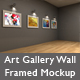 Art Gallery Wall Framed Mockup - GraphicRiver Item for Sale