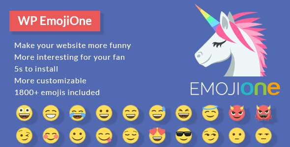 EmojiOne for WordPress - CodeCanyon Item for Sale