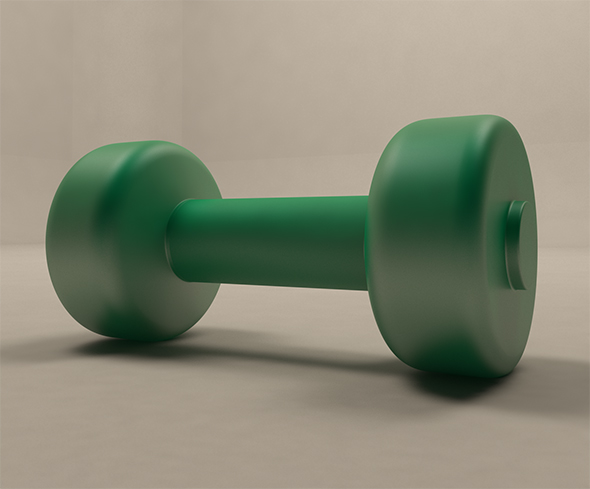 Plastic Dumbbells - 3DOcean Item for Sale
