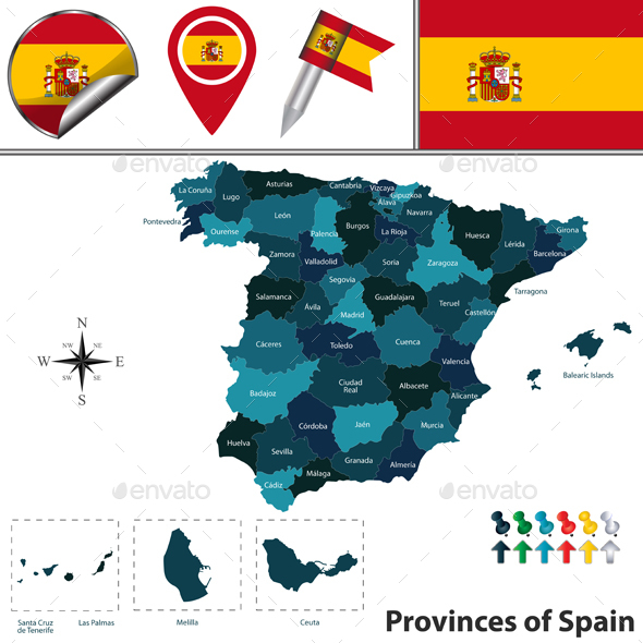 Provinces of Spain - Travel Conceptual
