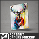 Portrait Canvas Mock-Up - GraphicRiver Item for Sale