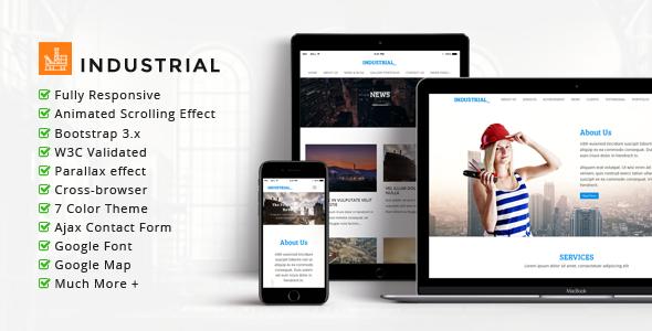 INDUSTRIAL – Multipurpose Corporate Responsive HTML Template