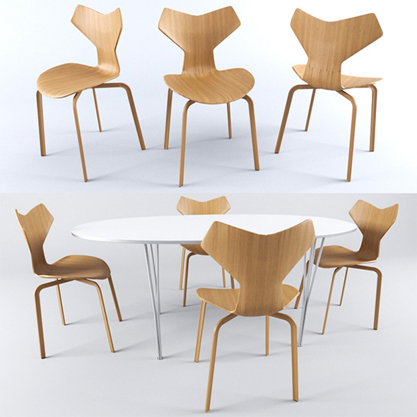 Fritz Hansen Chait+Table - 3DOcean Item for Sale