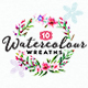 10 Handpainted Watercolour Wreaths - GraphicRiver Item for Sale