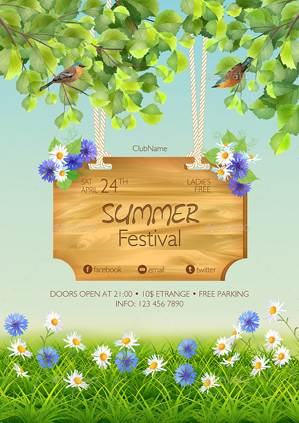 Summer Flyer/Poster Template - Flyers Print