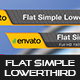 Flat Simple Lowerthird - VideoHive Item for Sale