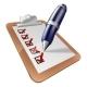 Pen Writing on Clipboard