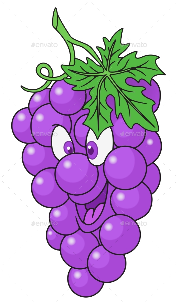 Fresh Grapes Cartoon - Food Objects