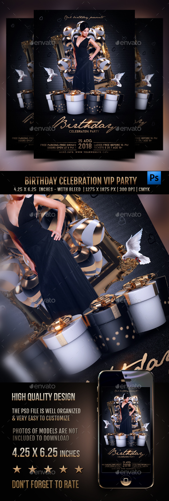 Birthday Celebration Vip Flyer - Clubs & Parties Events