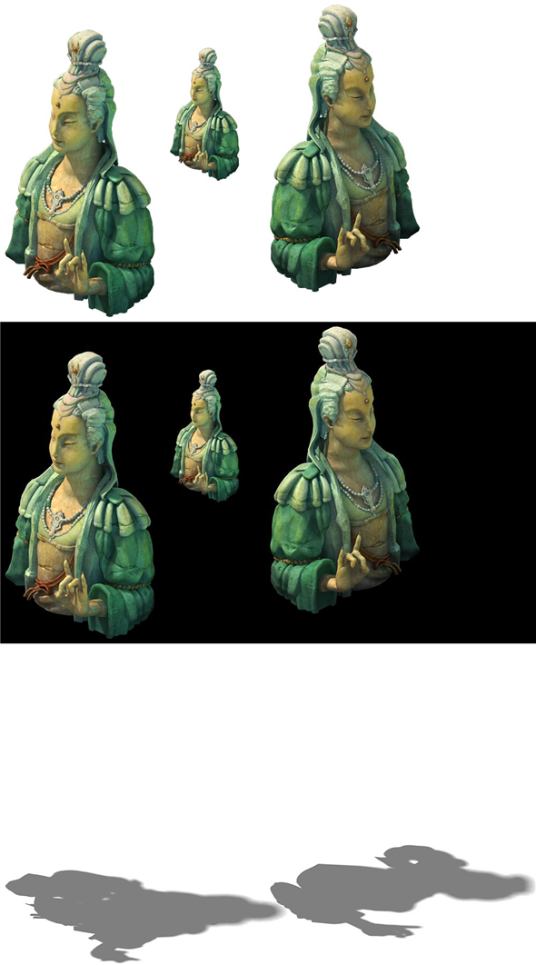 Game Model - Kapya Buddha Forest Statue 011 - 3DOcean Item for Sale