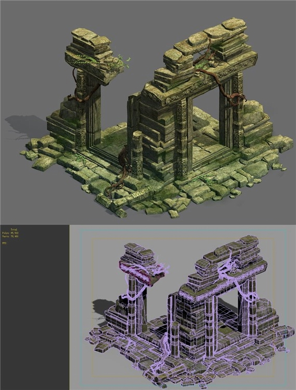 Game Model - Kashayana Buddha in the ruins of the forest 2 - 3DOcean Item for Sale