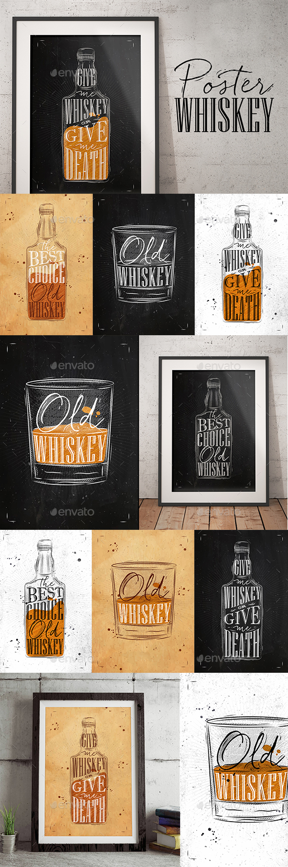 Whiskey Posters - Food Objects