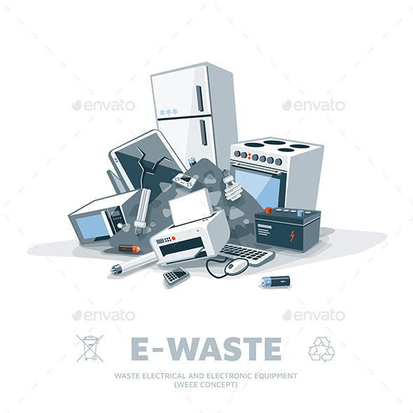 E-Waste Pile - Man-made Objects Objects