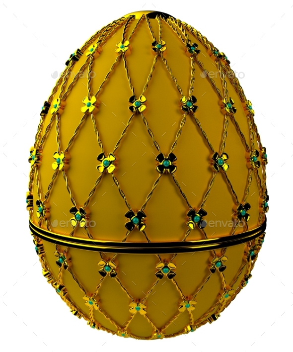 Jewelry Egg. 3D Render. - Objects 3D Renders