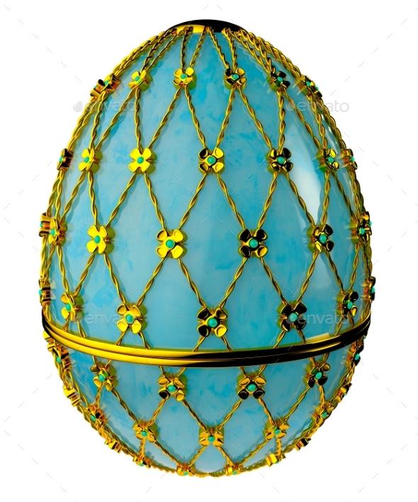 Jewelry Egg. 3D Render. - Objects 3D Renders