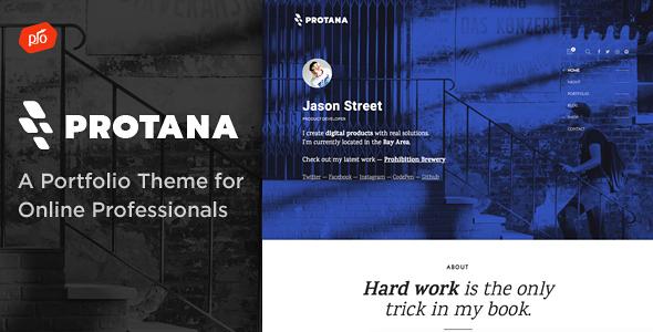 Protana – A Portfolio Theme for Online Professionals