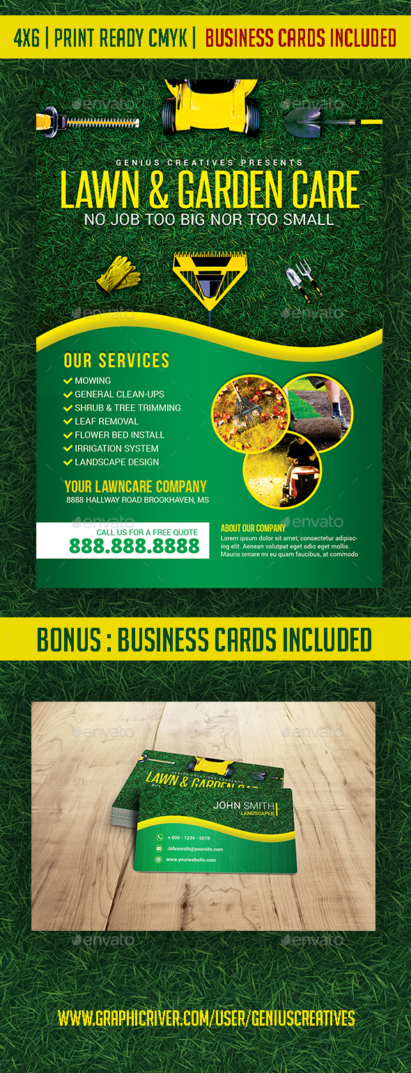 Lawn, Garden, & Landscaping template - Corporate Flyers