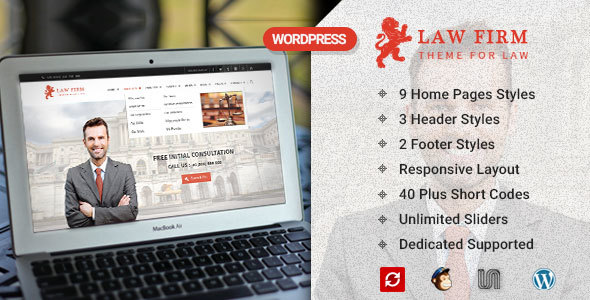 Top 30+ Best Lawyer WordPress Themes 2019 7