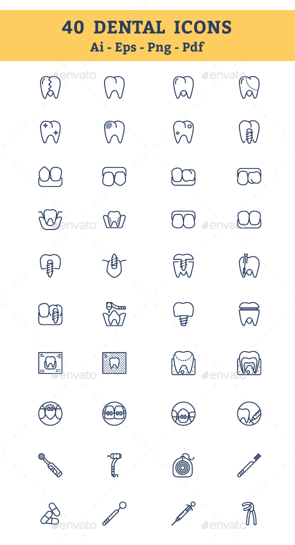 Dental Icons - Business Icons