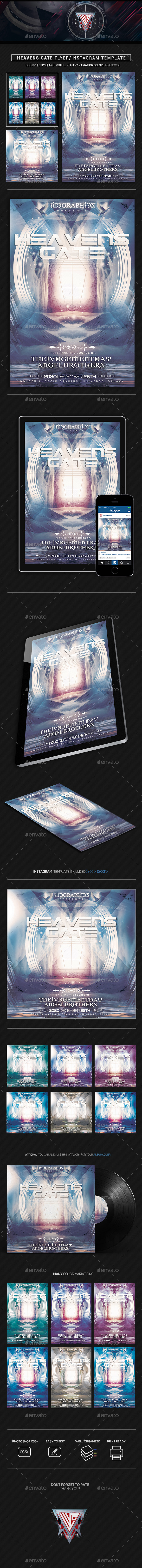 Heavens Gate Flyer/Instagram Template - Flyers Print Templates