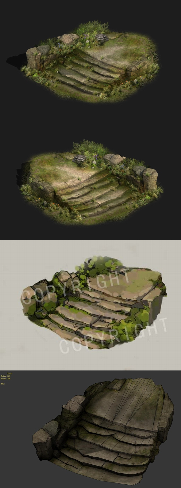 Game Model - Kashayana Trail Forest Hill Road - 3DOcean Item for Sale