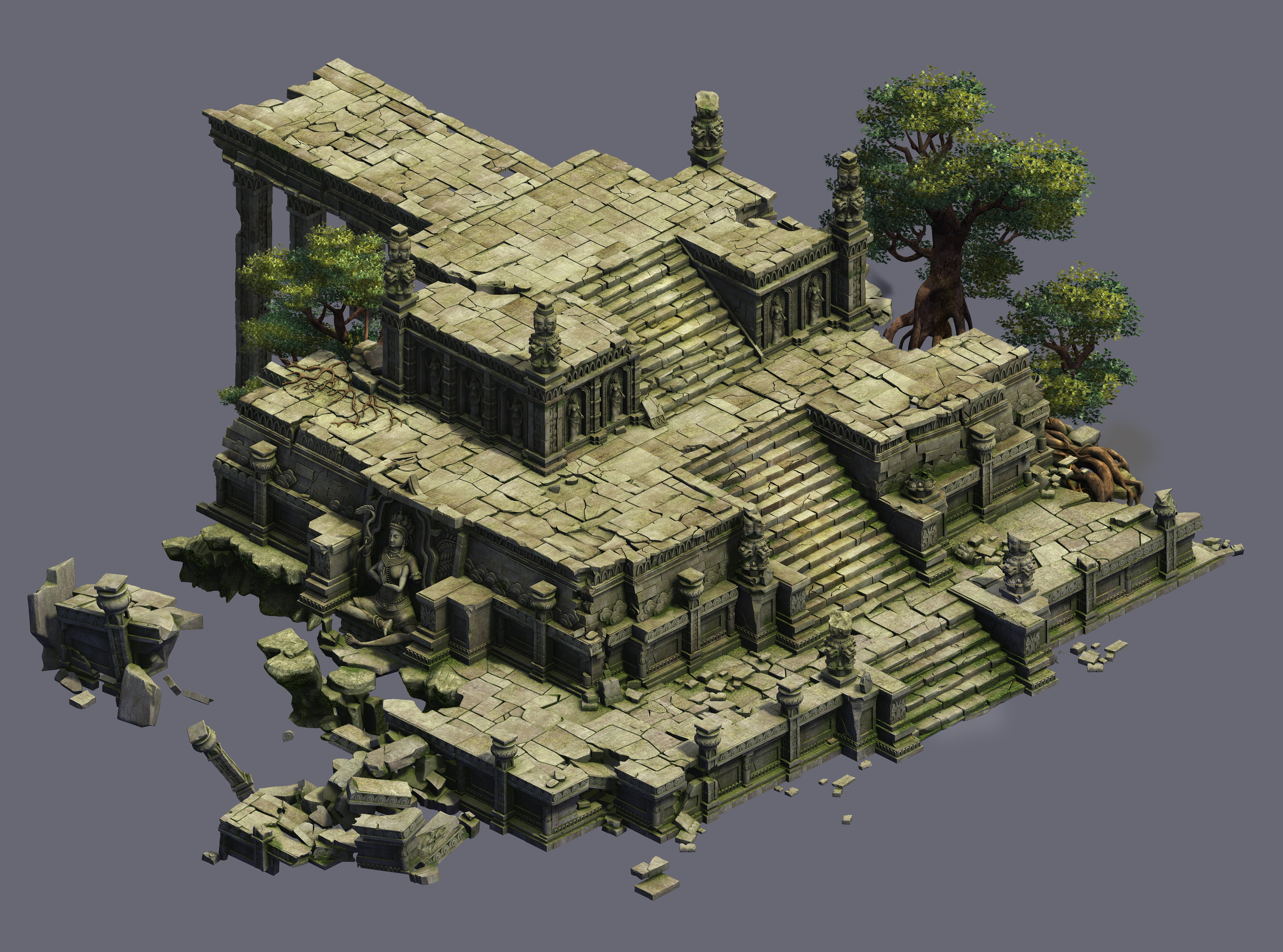 Game Model - Kashayana Buddha Forest Law Hall altar 02