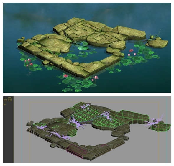 Game Model - Kasyapa Forest Water Platform - 3DOcean Item for Sale