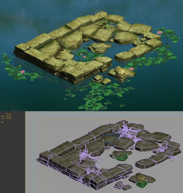 Game Model - Kasyapa Forest Water Platform 02 - 3DOcean Item for Sale
