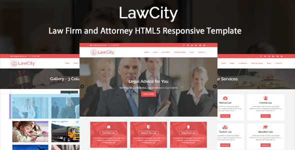 LawCity – Law Firm and Attorney HTML5 Responsive Template
