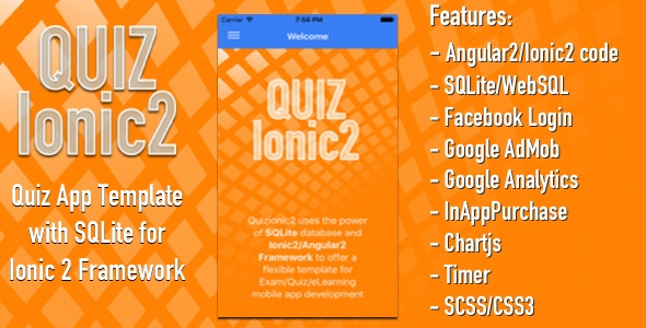 Quizionic 2 - Ionic 3 Quiz App w/ SQLite, AdMob, In-App-Purchase, Facebook Login - CodeCanyon Item for Sale