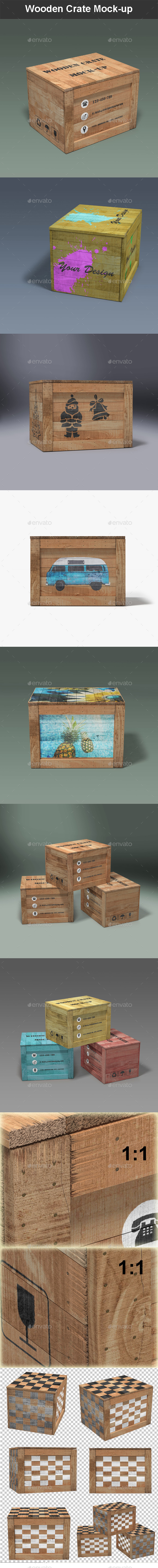 Wooden Crate Mock-up - Miscellaneous Packaging