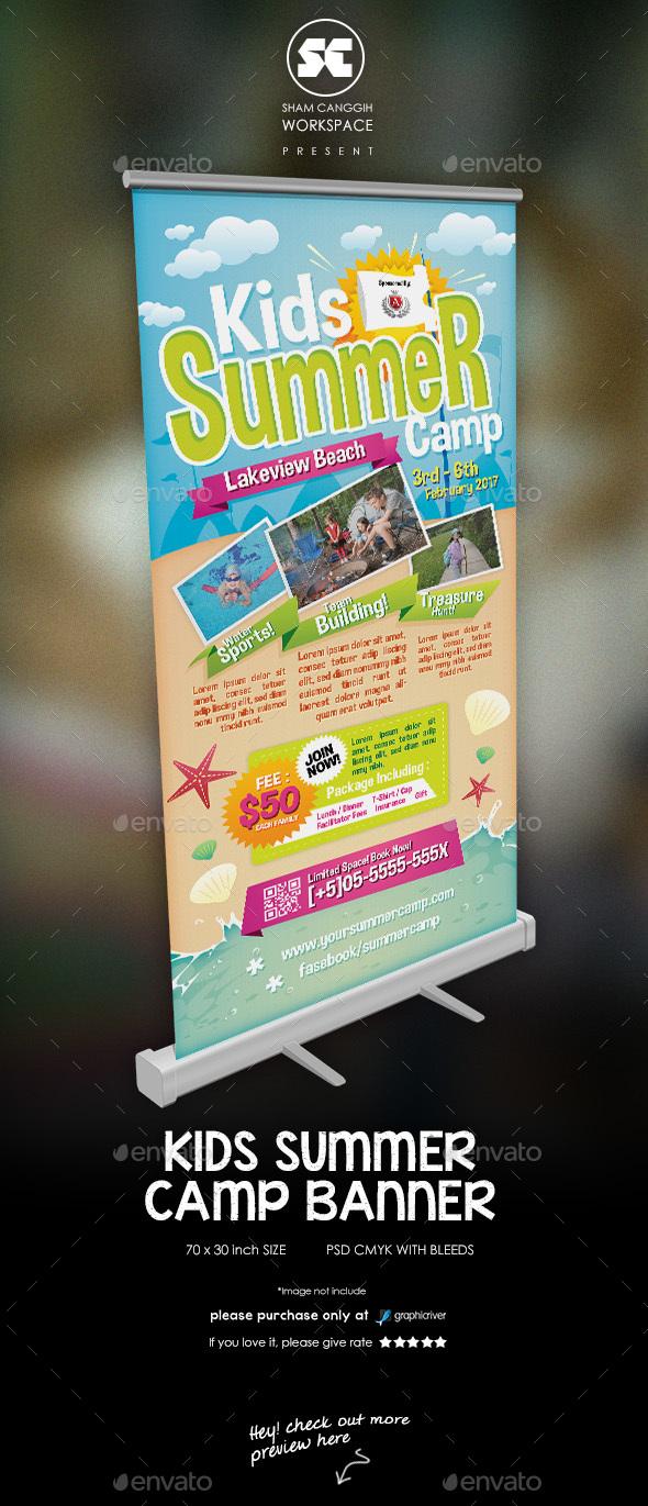 Kids Summer Camp Banner - Signage Print Templates