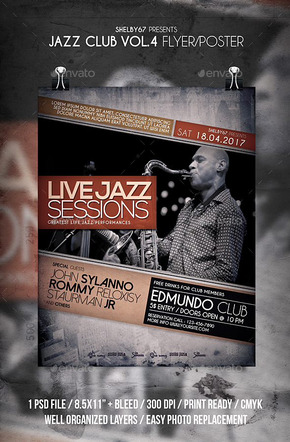 Jazz Club Flyer / Poster Vol 4 - Events Flyers