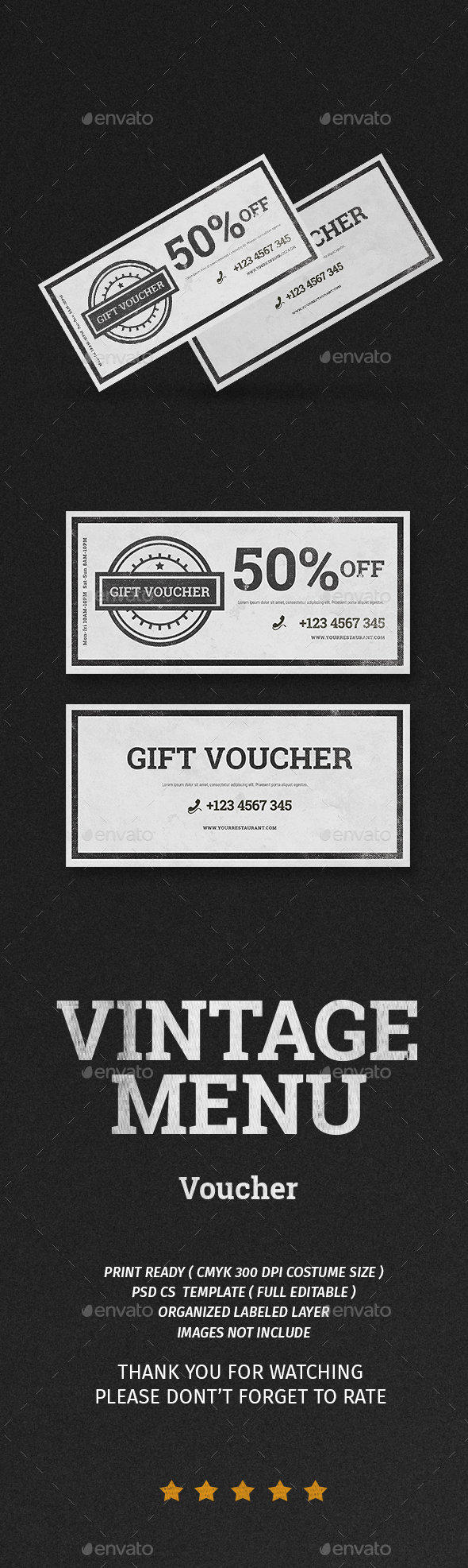 Vintage Voucher - Restaurant Flyers