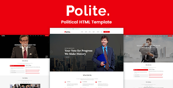 Polite – Political HTML Template