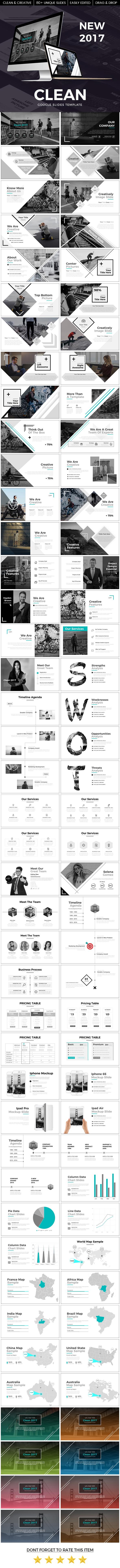 Clean 2017 Google Slide Template - Google Slides Presentation Templates