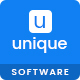 Unique-Software landing page PSD template - ThemeForest Item for Sale