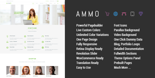 Ammo - Corporate MultiPurpose Theme - Business Corporate