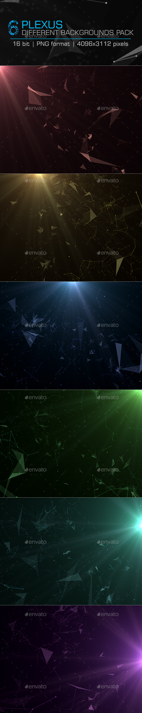 Plexus Backgrounds Pack-1 - Abstract Backgrounds